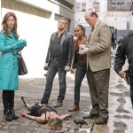 DANA DELANY, NATALIE TURPIN (ON GROUND), NICHOLAS BISHOP, SONJA SOHN, JOHN CARROLL LYNCH
